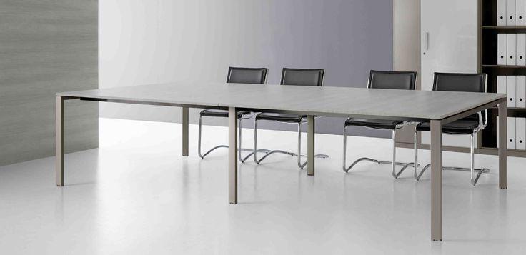 tavolo riunioni gamba metallica