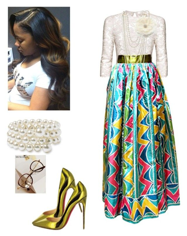 (Maxi Shirt) by cogic-fashion on Polyvore featuring polyvore fashion style Candela Oscar de la Renta Nordstrom Kenneth Jay Lane MOL Girl ASOS Christian Louboutin clothing