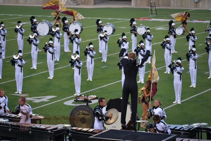 Phantom Regiment, Round Rock, Texas, DCI Tour of Champions, 2013 - love that the drum major really gets into it <3