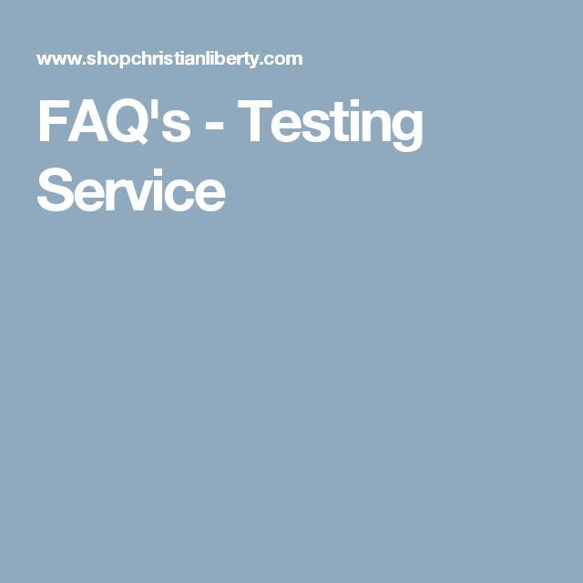 FAQ's - Testing Service