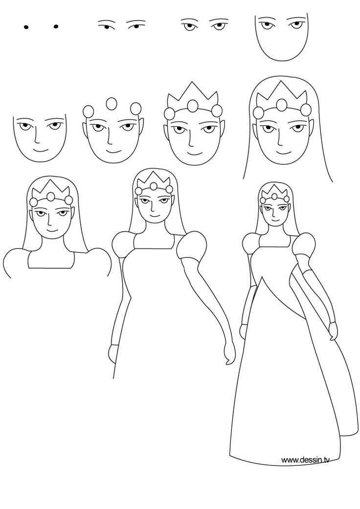 How To Draw A Princess Dress Step By Step Drawing princess