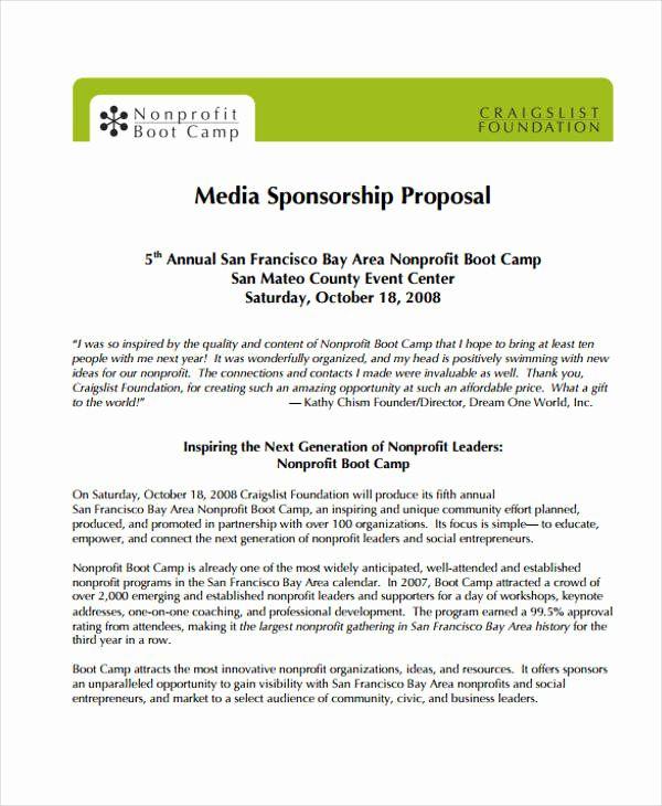 Corporate Sponsorship Proposal Template Luxury 19 Sponsorship