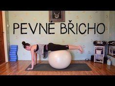 15 minut s velkým míčem   Cviky pro pevné břicho - YouTube