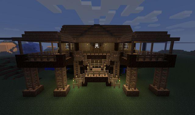 Minecraft building ideas: Stilt house