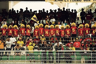Crazy and at the same time very entertaining Valentino Rossi fans at the Malaysian MotoGP in 2011
