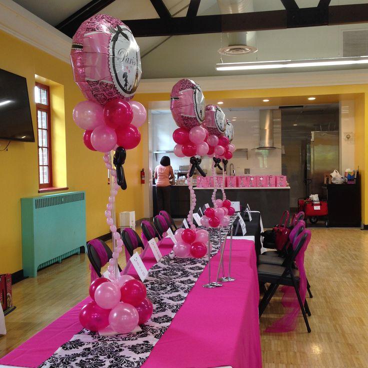 Custom Balloon Centerpieces for a high school