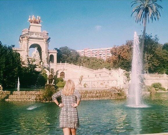 """""""NOSTALGIA.  It's delicate, but potent. In Greek, """"nostalgia"""" literally means """"the pain from an old wound"""". It's a twinge in your heart far more powerful than memory alone- a feeling of a place where we ache to go again. 💕 . . . . . . #instaphoto #instatravel #travel #parcdelaciutadella #palmtrees #vsco #throwback #tb #bluesky #traveltheworld #erasmus #ladiesgoneglobal #dametraveler #nostalgia #worldtravelpics #instadaily #wanderlust #travelgram #passionpassport #wearetravelgirls…"""