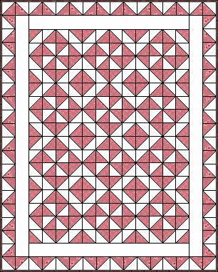 Mosaic 2 - half square triangles.  I can use my printable paper software!