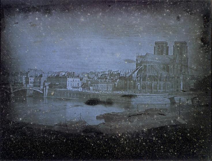 Notre Dame de Paris, 1838, by Louis Daguerre