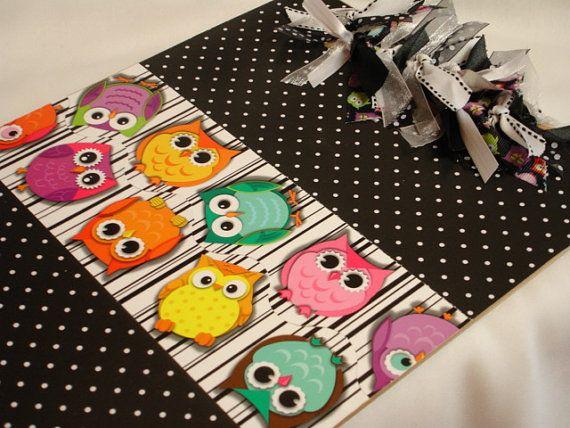 OOAK altered decorated clipboard HOT PINK by kuteklipboardsbyamy
