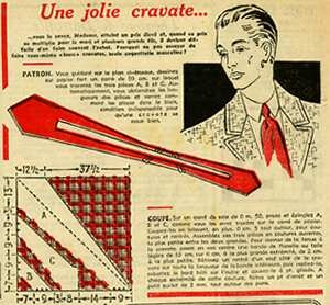 50s men's cravate ( necktie)