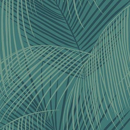 Art Deco Behang Exotic Deco met palmmotief/ palmbladeren. Verkrijgbaar bij artdecowebwinkel.com. - Art Deco Wallpaper Exotic Deco with palmpattern/ palm leaves. Available at artdecowebstore.com.