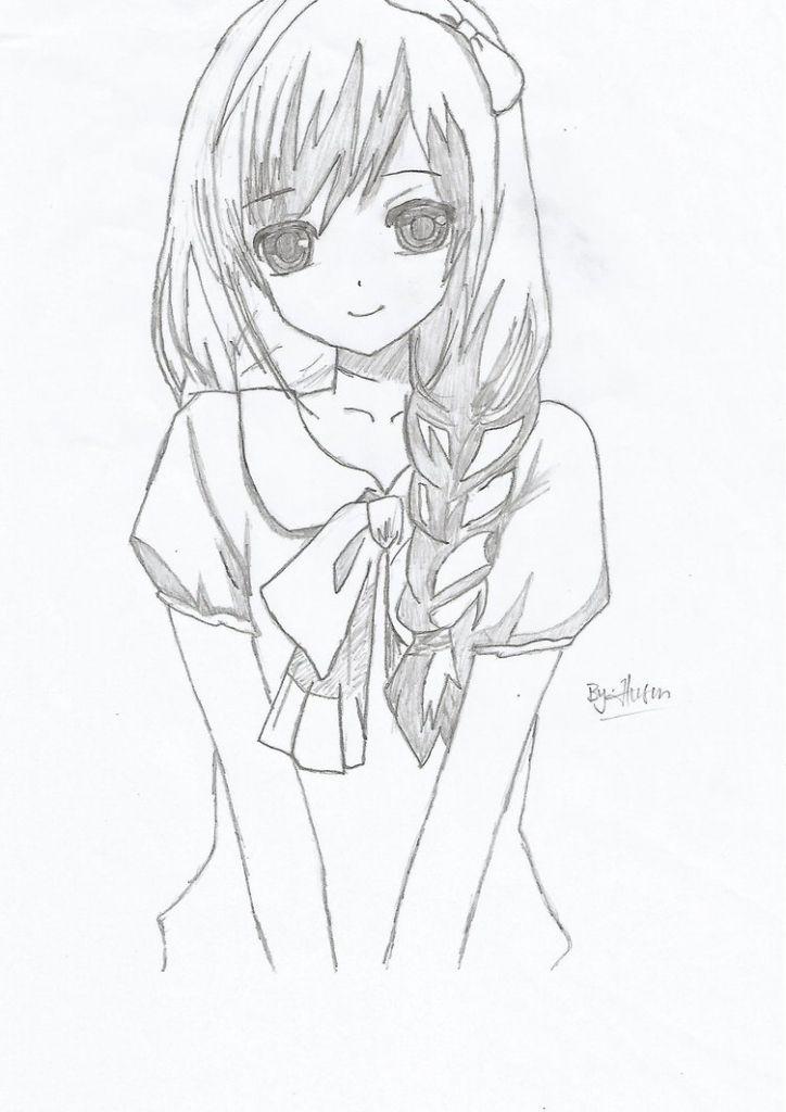 Anime Girl Cute Drawing Cute Anime Girl Husenrqn On Deviantart