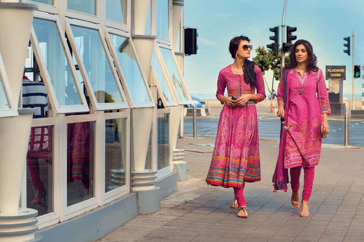 On+the+left+-+Brighten+up+the+day+with+a+traditional+phulkari+bagh+printed+anarkali+kurta.+You+can+choose+to+team+it+with+an+ombrey+dupatta+or+even+go+without.+Whichever+works+better+with+your+own+personal+style.   On+the+right+-+A+unique+kurta+with+exotic+phulkari+motifs,+will+get+you+all+the+compliments+for+your+signature+way+of+dressing.