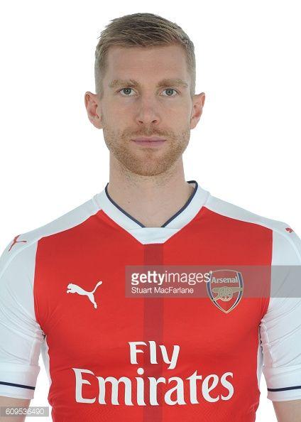 Arsenal's Per Mertescker at London Colney on September 21 2016 in St Albans England