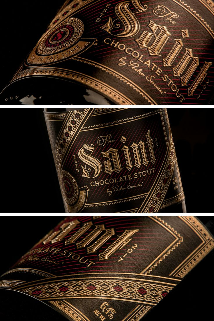 ''The gold foil and emboss printing, combined with the intricate detail gives a luxurious and stylish look to this craft beer made by Think Bold Studio.'' Derrick Lin, chief curator of 'Packaging of the World'.