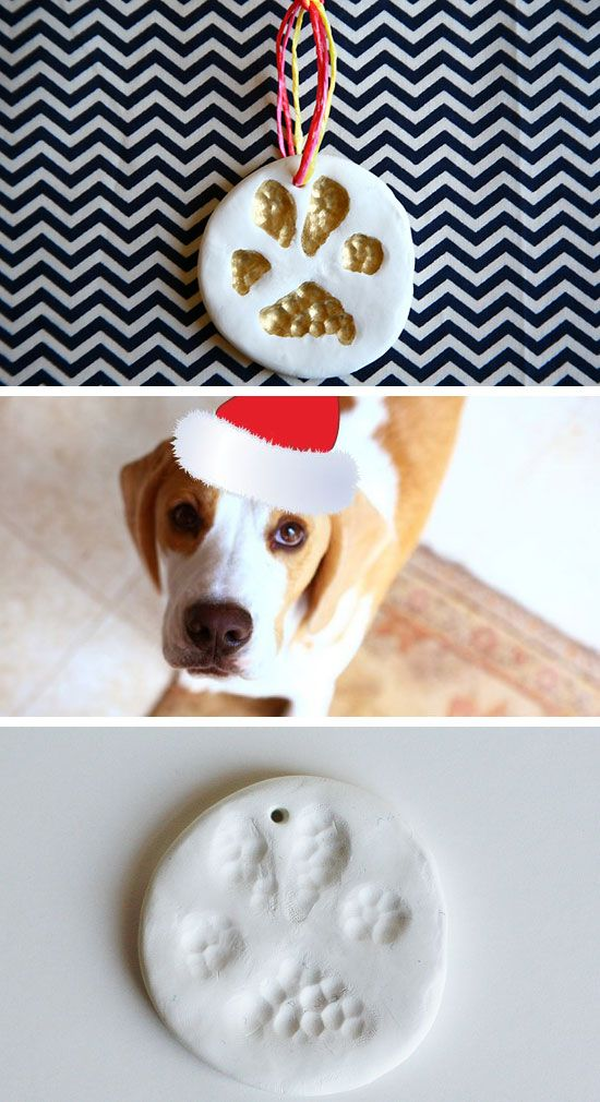Paw'fect Paw Print Ornament   Click for 28 Easy DIY Christmas Decorations for Home   Easy DIY Christmas Ornaments Homemade