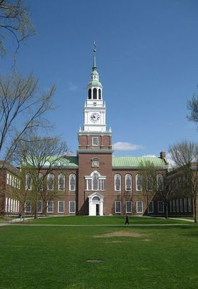 Dartmouth is the smallest of the Ivy League universities and located in Hanover, New Hampshire.