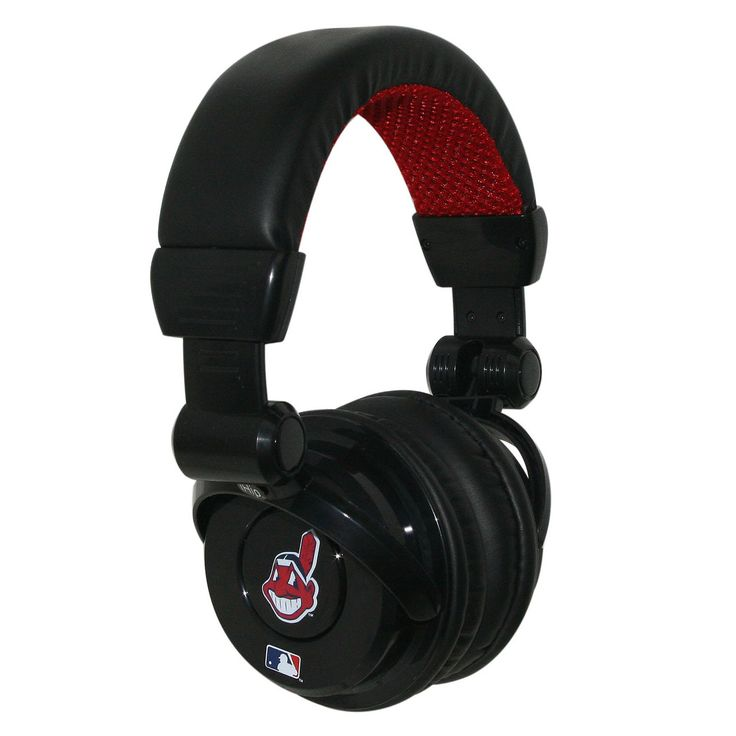 Ihip MLB Pro Dj Headphones With Microphone Cleveland Indians