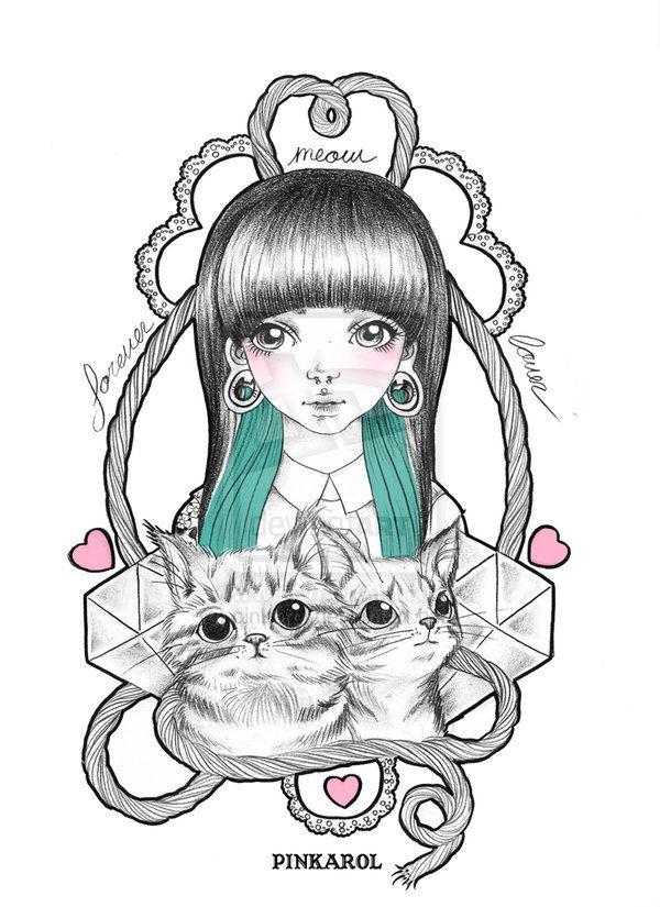 Forever meow Lover by pinkarol.deviantart.com on @deviantART