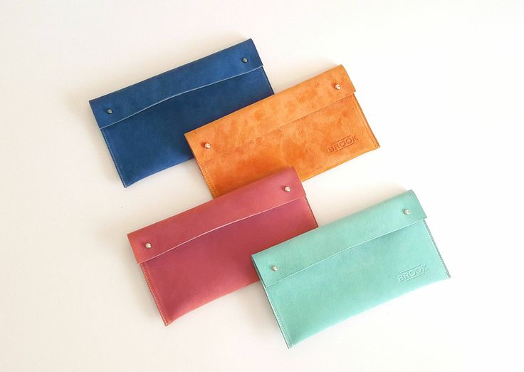 Leather Purse, Suede Clutch, Mint Bag, Handmade Handbag, Woman by Brookleathergoods on Etsy