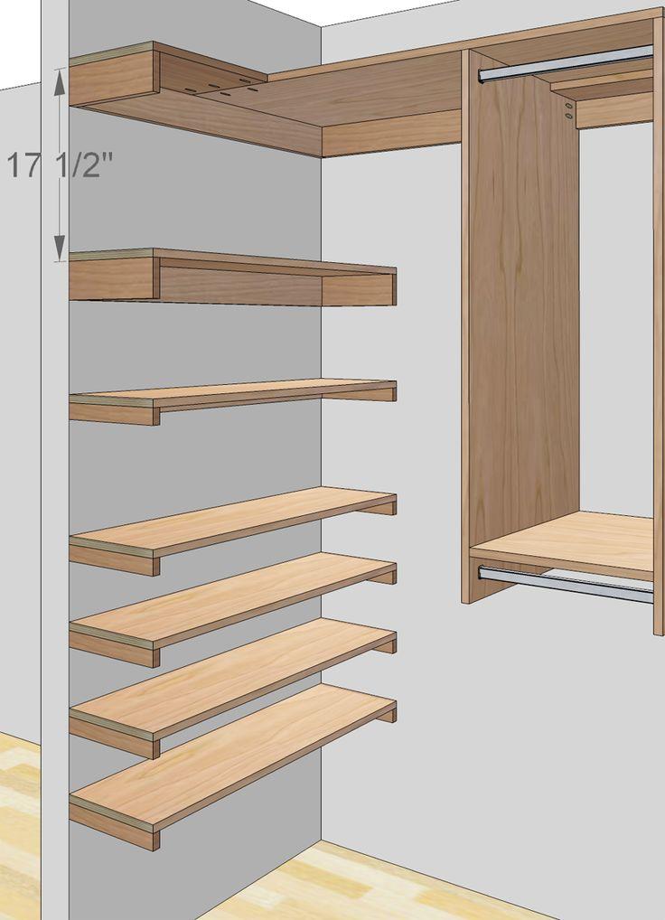 Step In Closet Organizer Plans Custom Closet