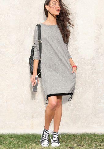 Meltonové šaty #ModinoCZ #sportovní #sporty #streetstyle