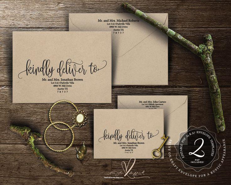 38 best Wedding Envelope Template images on Pinterest