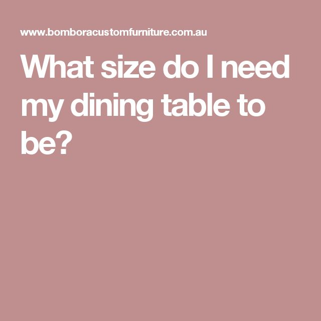 What size do I need my dining table to be?