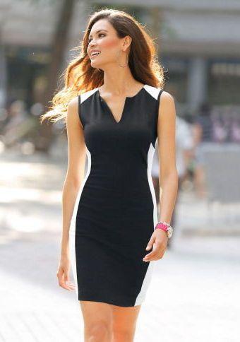 Dvoubarevné šaty bez rukávů #ModinoCZ #dress #blackandwhite #fashion #trendy #saty #cernobila #moda