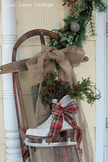 25 best ideas about christmas sled on pinterest sled for Glace decoration