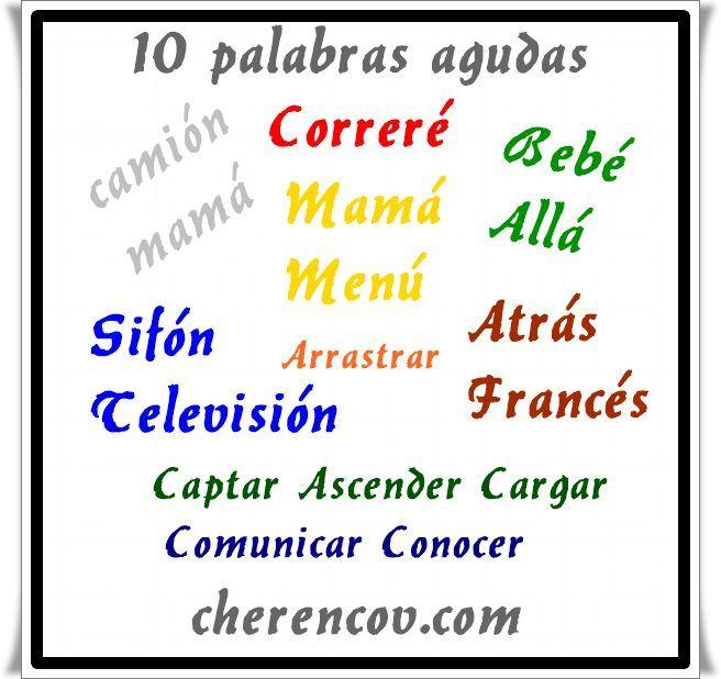 10 Palabras Agudas Sin Tilde Terminadas En Vocal Cherencov Com Palabras Agudas Palabras Llanas Palabras Llanas Con Tilde