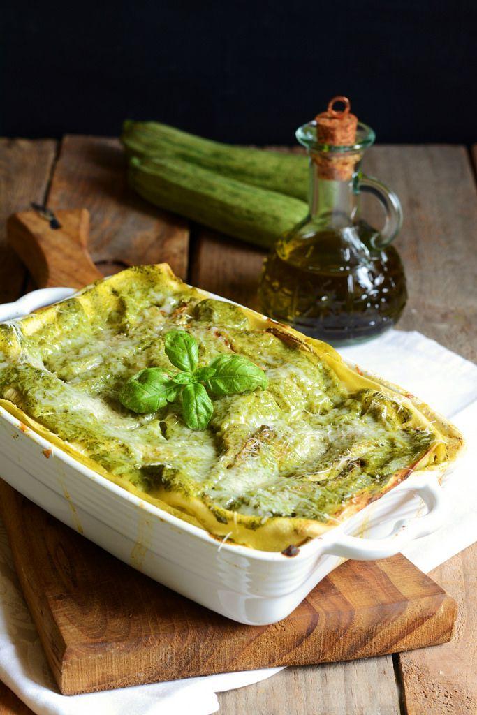 Lasagne con crema di zucchine al basilico