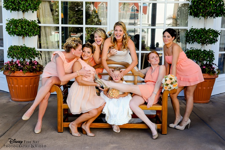 A not so serious shot with the bridal party #funny #bridesmaid #photo
