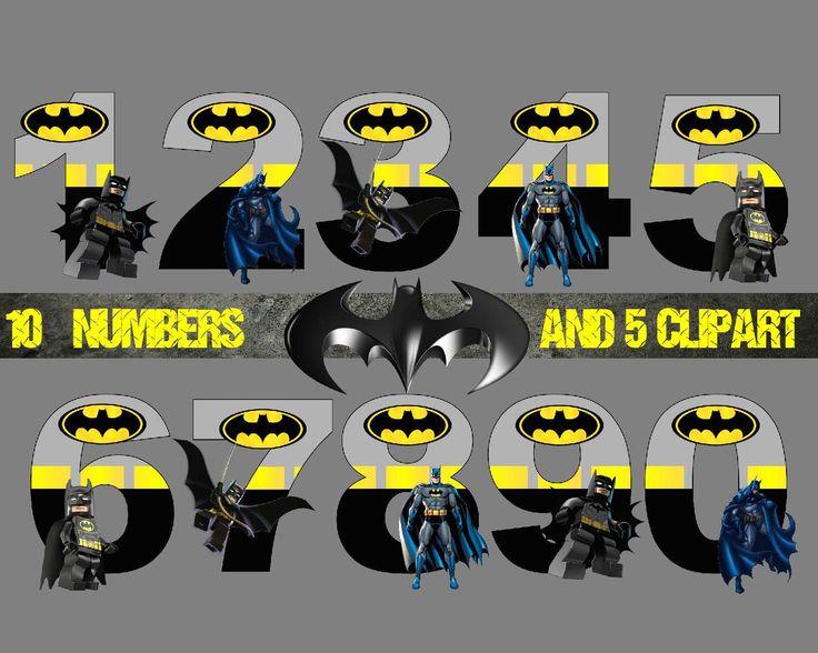 Batman number and Clipart , Disney,Princess ,Digital