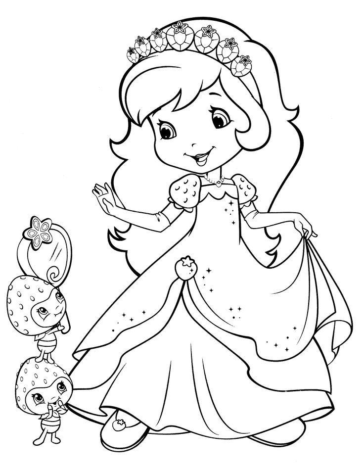 strawberry shortcake coloring page | DIBUJOS | Pinterest ...
