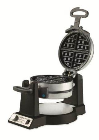 Amazon.com: Waring Pro WWM1200SA Double Belgian-Waffle Maker, Black: Kitchen & Dining
