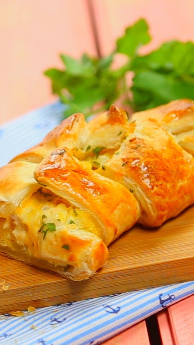 Trenzado de Huevo, Cheddar y Panceta ~ Receta   Tastemade