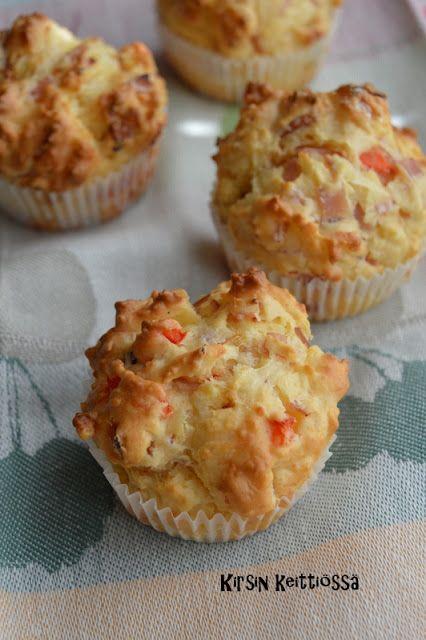 Kirsin keittiössä: Kinkku-juustomuffinssit (gluteeniton)