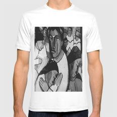 Artistic People MEDIUM Mens Fitted Tee White