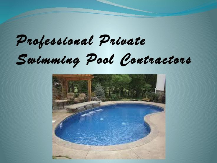 Professional private swimming pool contractors  Our team of professionals is aware of what is necessary for the proper development and technological innovation of your Private Swimming Pool Construction whether you're considering a freeform or geometrical, big or small share style, and regardless if is on flat ground or on the side of a mountain.