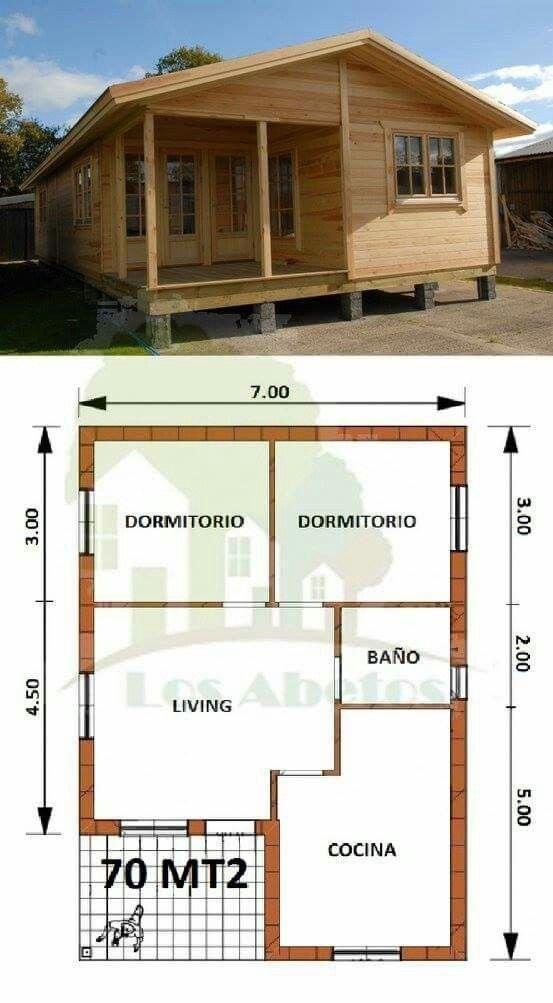 Diseno De Casa De Campo Pequena Con Moderna Estructura De Madera Planos De Casas Pequenas Casas Prefabricadas Planos De Casas