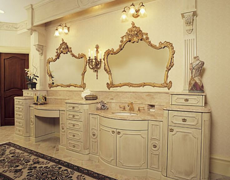 french-bathroom: French Provincial, Mirror, Decor, Ideas, Google Search, French Country, House, Dream Bathroom, Provincial Bathroom