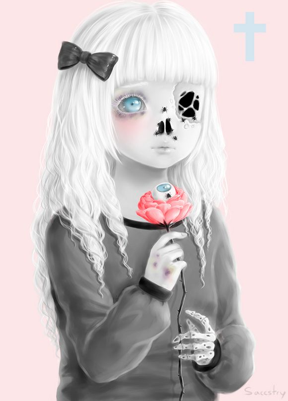 cute creepy art saccstry