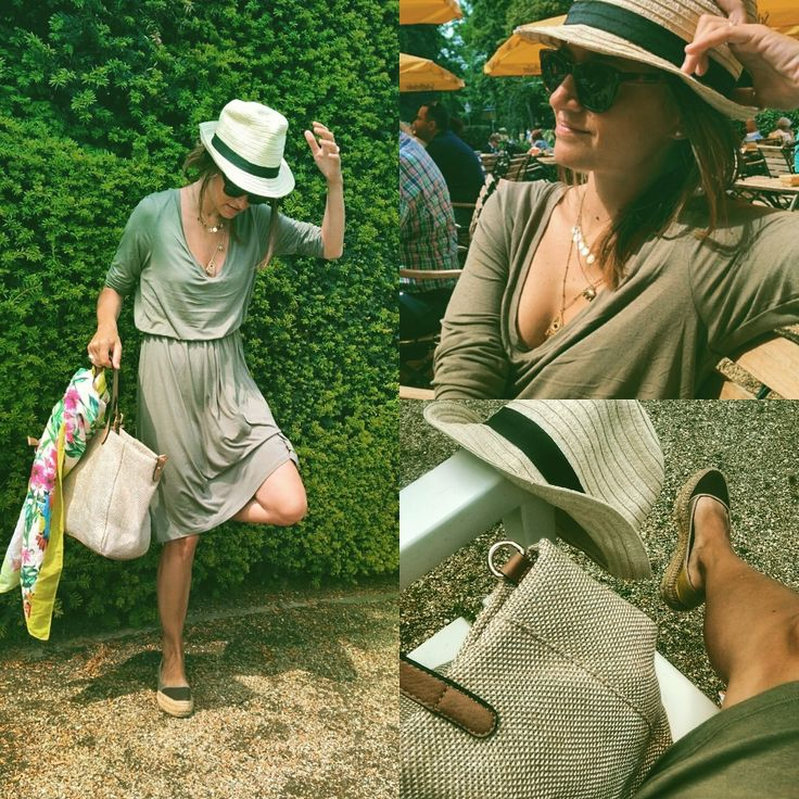 A very #outofafrica #africamia #look for this #hot & #sunny #sunday! A 7€ #olive #green #dress by #hm, #original #espadrilles from a #streetmarket in #vien and my 3€ #summer #hat from #primark! A #chill #lunch and a #long #walk in the #park! Have a #nice #day you too!