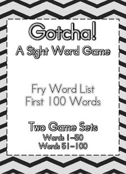 Sight Word Game Fry Words 1-100! Super fun for the kiddos!!