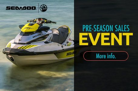 Mosites Motorsports current promotion for Sea-Doo, Pre-Season Sales Event