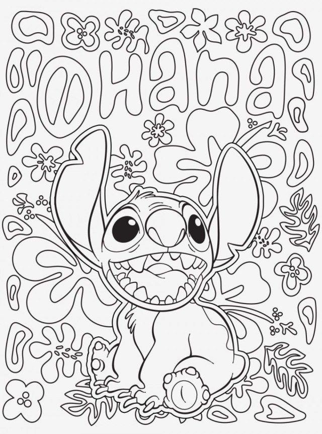 Stitch Coloring Page Dibujos Faciles Dibujos