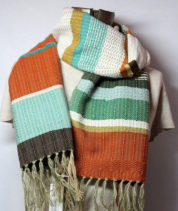 Noah // Handwoven Southwest Fashion // Woven Scarf by pidgepidge
