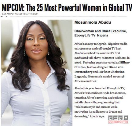 Mo Abudu Only Black Woman On Hollywood Reporter's 25 Most Powerful Women In Global TV | AfroCosmopolitan
